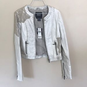 NWT Faux-Leather and Lace BKE Jacket